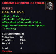 Mithrian Barbute of the Veteran