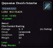 Qeynosian Druid's Scimitar