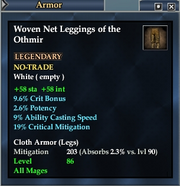 Woven Net Leggings of the Othmir