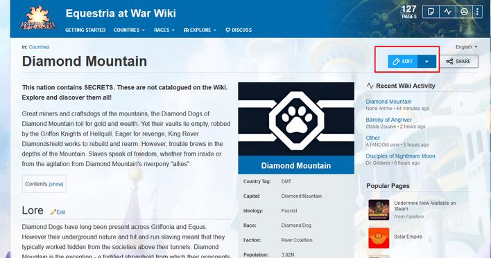 A Guide for New Editors   Equestria at War Wiki   FANDOM