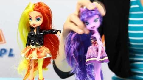 Twilight Sparkle & Sunset Shimmer Dolls - Dwupak - Equestria Girls - My Little Pony