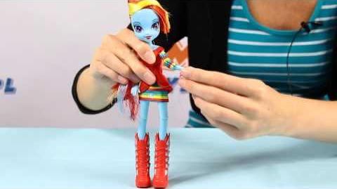 Rainbow Dash Doll Lalka Rainbow Dash - Equestria Girls - My Little Pony - www.MegaDyskont.pl