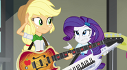 Applejack and Rarity wondering why they aren't transforming EG2