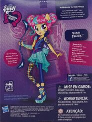 Friendship Games Sporty Style Sour Sweet doll back of packaging