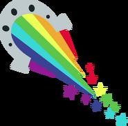 Logo zespołu ''Rainbooms''.