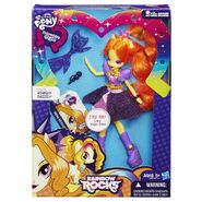 Adagio Dazzle Rainbow Rocks singing doll packaging