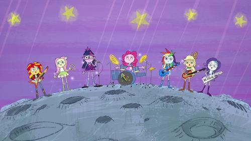 EGS1 Wizja Pinkie Dziewczny na księżycu