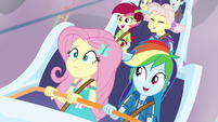 Fluttershy and Dash riding the coaster EGROF
