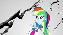 Rainbow Dash watching limbo crack apart EGS3