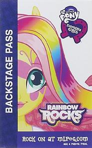 Fluttershy Equestria Girls Rainbow Rocks Backstage pass