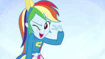 Rainbow Dash winking on splash screen EG