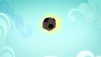 Soccer ball sailing through the air SS4