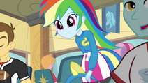 Rainbow Dash sitting down EG