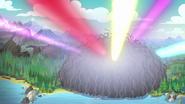 EG4 Kolorowe światła wyrywają się z roślinnej kopuły
