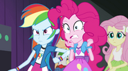 Rainbow jabs Pinkie with her elbow EG2