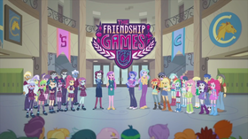 Friendship Games 'The Friendship Games' music video cover