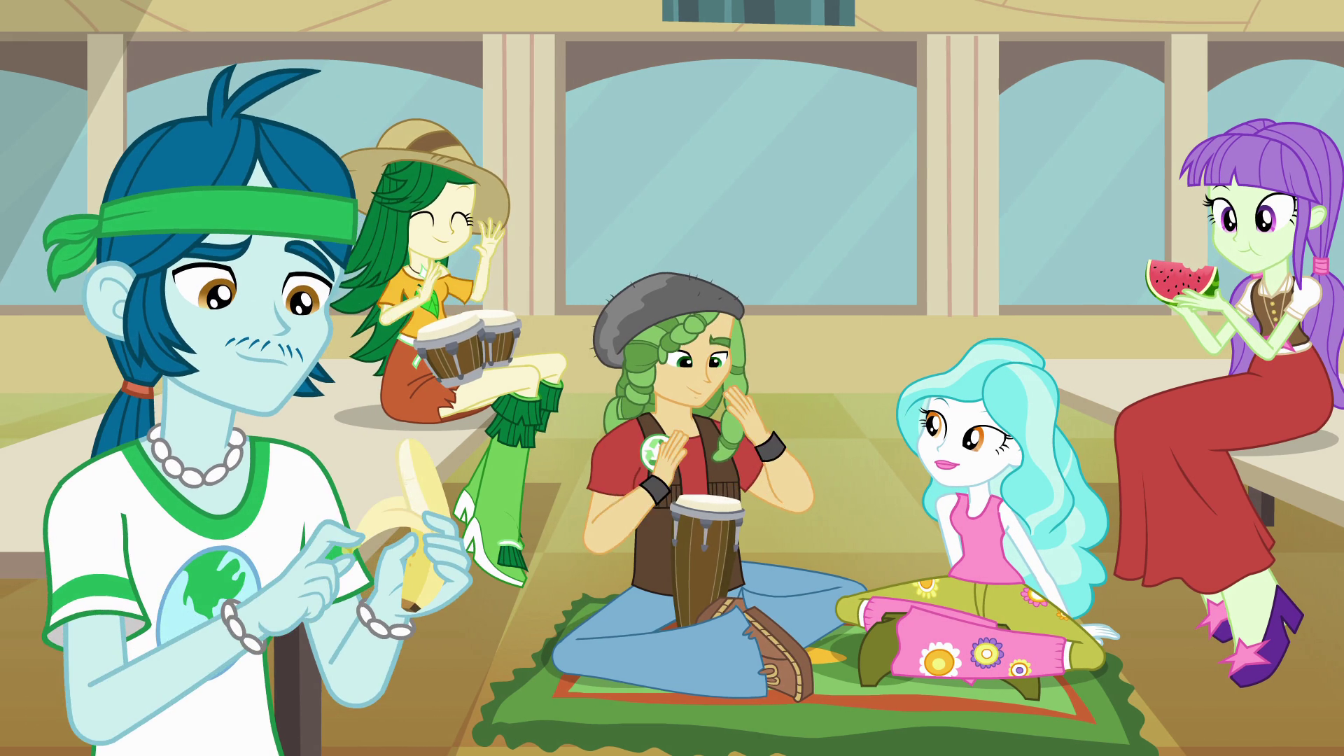 Image Canterlot High School Eco Kids Eg Png My Little