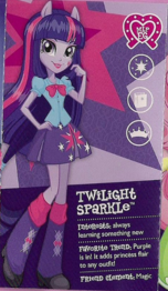 Twilight Sparkle as seen in the Equestria collection pamphlet cropped