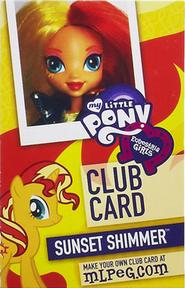 Sunset Shimmer Equestria Girls Club card