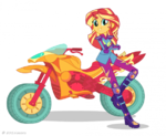 Friendship Games Sunset Shimmer Sporty Style artwork