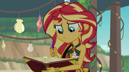 Sunset Shimmer takes out her magic journal EGFF