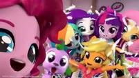 Equestria Girls and Spike take a selfie EGM4