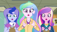 Celestia, Luna, and Cadance drop their clipboards EG3