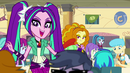 The Dazzlings walk through the cafeteria EG2