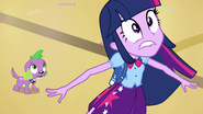 "Twilight and Spike hear ""incoming!"" EG"