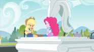 Applejack and Pinkie playing cards EG2