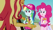 Pinkie Pie listening to Sunset Shimmer EGFF