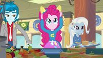 Pinkie Pie putting on ears
