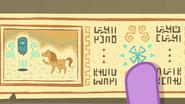 Princess Twilight pointing at ancient drawings EGFF