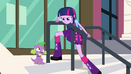 Twilight glares at Spike EG