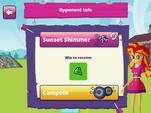 MLPEG app archery mini-game opponent info