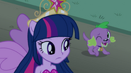 Princess Twilight and winking Spike EG