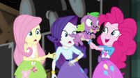 Pinkie Pie picking up Spike the dog EGS2