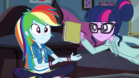 Twilight stops Rainbow Dash from goofing off EGDS6
