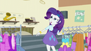 Rarity scoffing at Applejack EG3