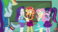 Rainbow Dash's friends gasping at her EGFF