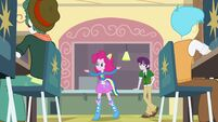 Pinkie Pie singing in lunch room