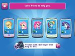 "MLPEG app Applejack, Fluttershy, Rainbow Dash, and Rarity ""Call a Friend"" options"