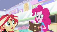 Pinkie picks up Sunset Shimmer's journal EGS3