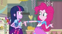Pinkie Pie talking about the dance