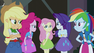 Fluttershy's friends stare at her EG3