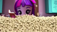 Twilight Sparkle buried in popcorn EGM2