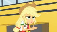Applejack rubbing her hands EG4