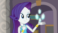 Rarity makes gems with her geode powers EGDS1