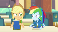 Applejack and Rainbow still having a competition EGDS4