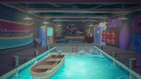 Legend of Everfree background asset - canoe rental
